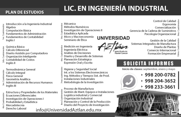 UniversidadAztlanCancun LIC IngenieriaIndustrial